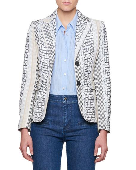 Fenice Striped Jacquard Blazer