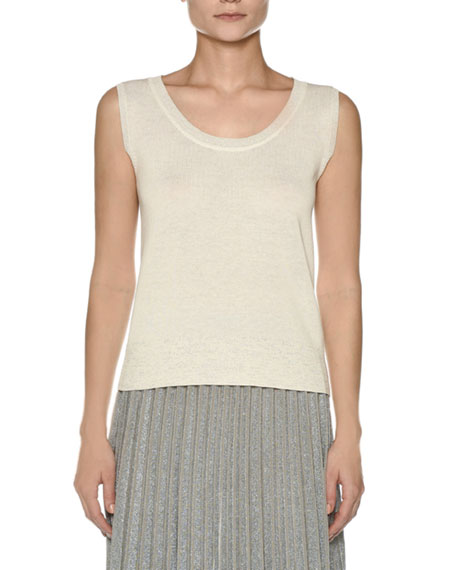 Sleeveless Crepe Cotton Top