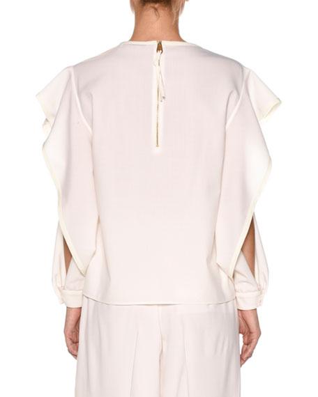 Superfine Wool Top w/Open Sleeves
