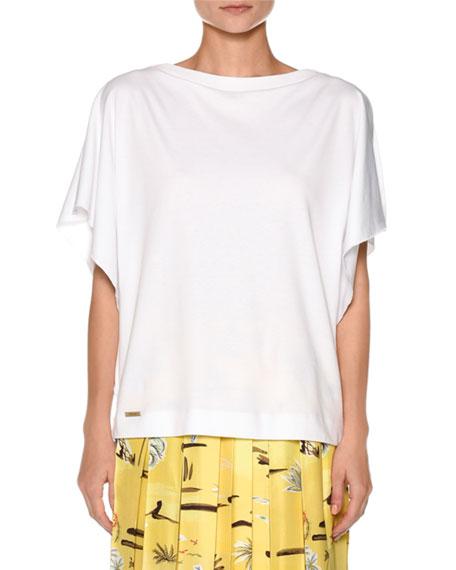 Jersey Knit Open-Side T-Shirt