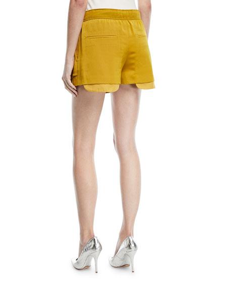 Hammered Satin Cargo Shorts