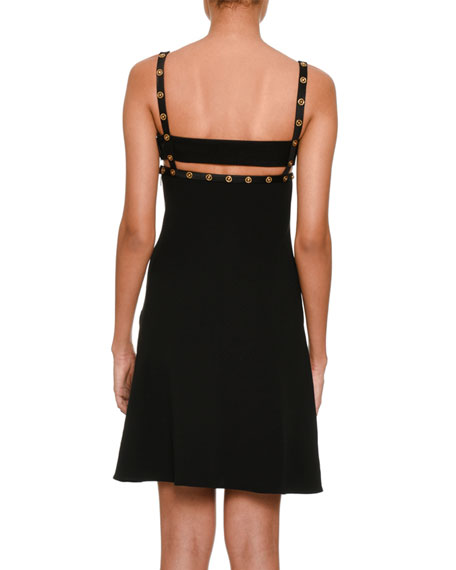 Studded Cutout Sweetheart Cocktail Dress