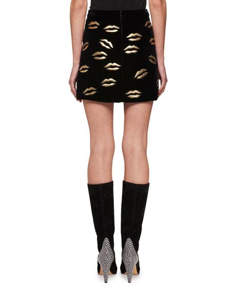 Metallic Lip Mini Skirt