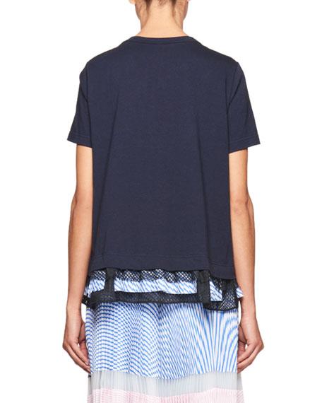Short-Sleeve Ruffle-Hem Top