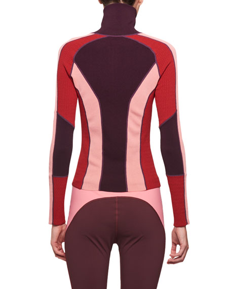 Laddie Colorblock Zip-Front Sweater