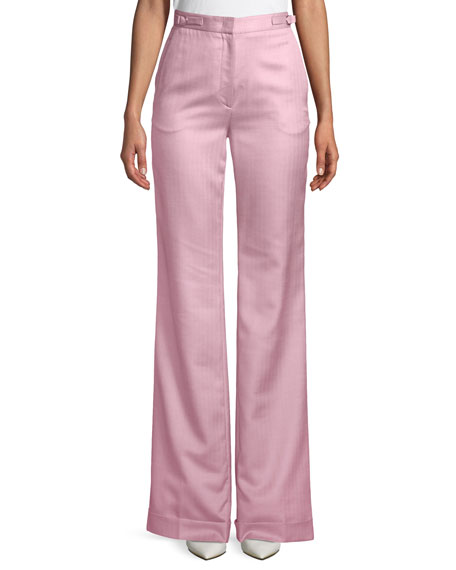 Gainsbourg Wide-Leg Silk-Wool Pants