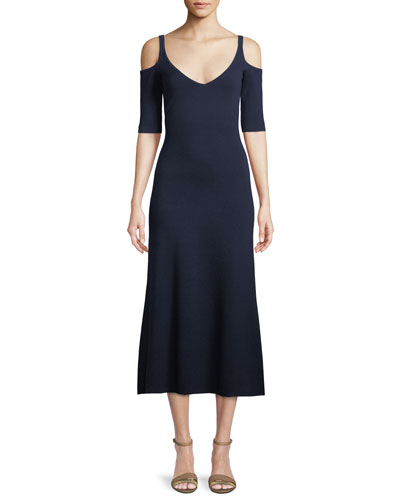Wallace Cold-Shoulder Midi Dress