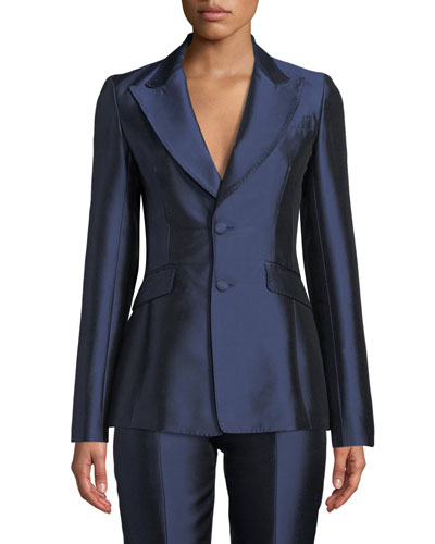 Serge Single-Breasted Silk-Wool Blazer