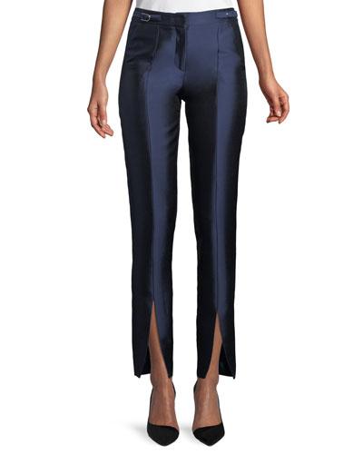 Morrison Split-Hem Shantung Pants