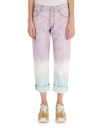 Cuffed Tie-Dye Jeans