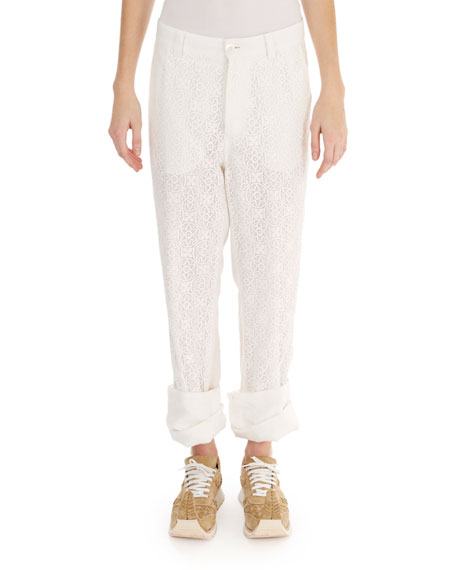 Lace Fisherman Pants