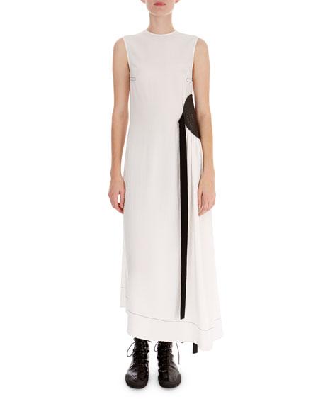 Sleeveless Dress w/Laser-Cut Mandala