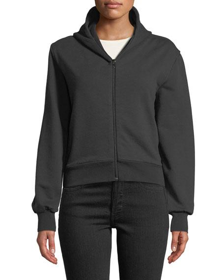Zip-Front Hoodie Sweatshirt