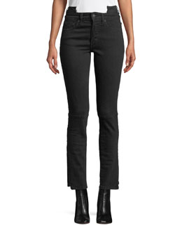 Cropped Stretch-Denim Jeans