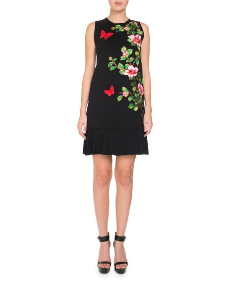 Sleeveless Cherry Blossom Knit Dress