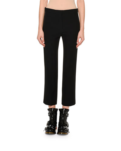 Kick Flare Cropped Trousers