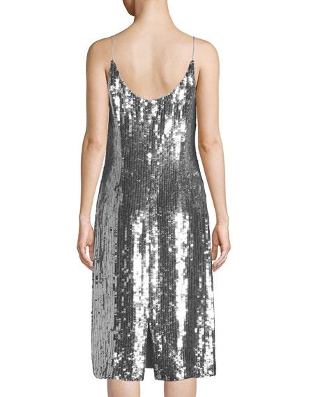 Scoop-Neck Sequin Cocktail Dress