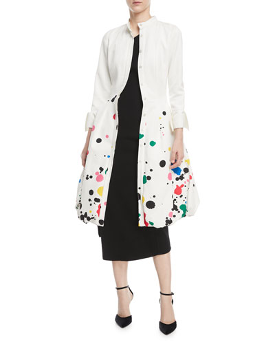 Splatter Paint Tulip Shirtdress