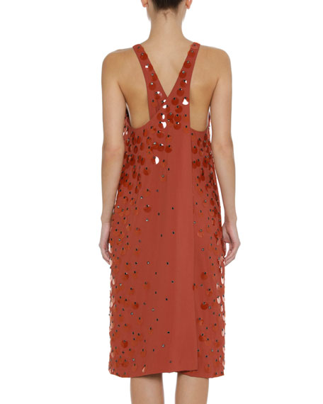 Sleeveless Paillette Tank Dress