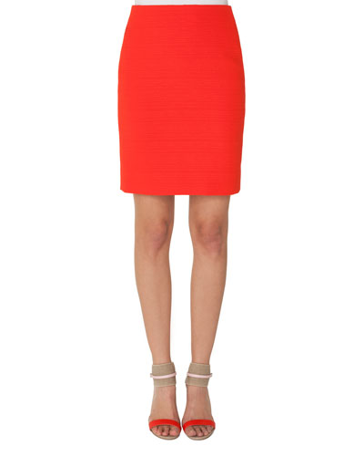Structured Pencil Skirt with Zip Pocket