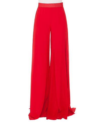 Triple-Layer Wide-Leg Pants