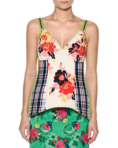 V-Neck Floral-Print Top