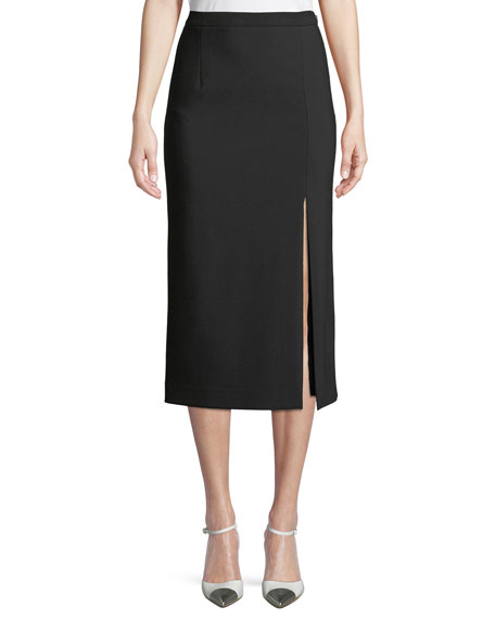 Side-Slit Pencil Skirt