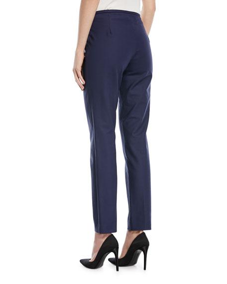 Straight-Leg Side-Zip Pants