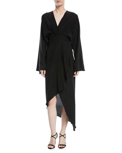 Crepe de Chine Kimono Dress