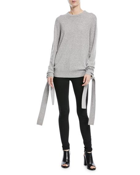 Cashmere Tie-Sleeve Sweater