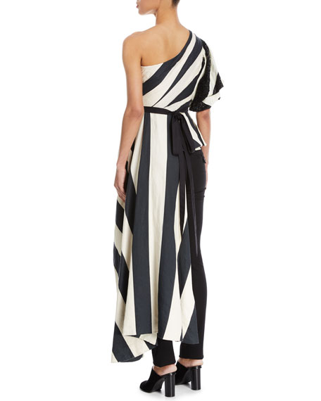 Sur de Lago Striped Peplum Top