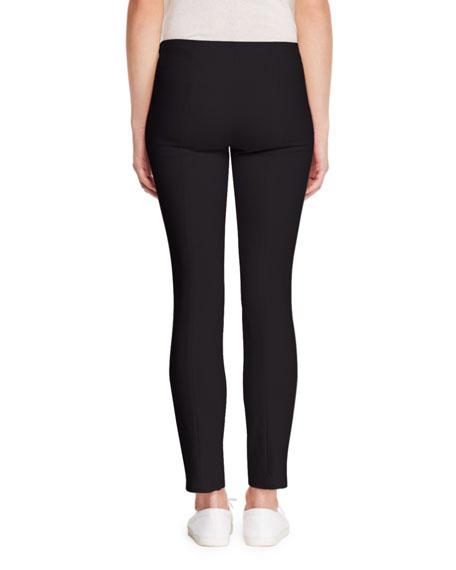 Sorocco Skinny Stretch-Wool Pants with Slit Hem