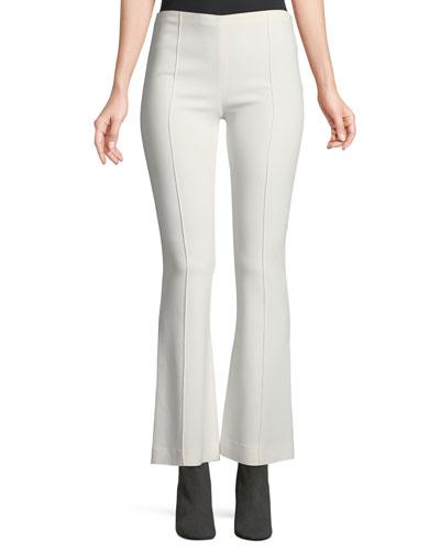 Beca Side-Zip Flared-Leg Pants