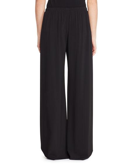 Lala Wide-Leg Stretch Pull-On Pants