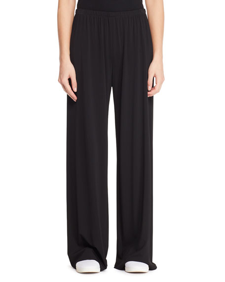 Lala Wide-Leg Stretch Pull-On Pants