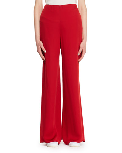 Kiola Wide-Leg Silk Pants