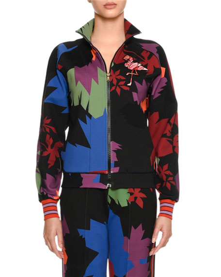 Graphic Leaf Neoprene Jacket