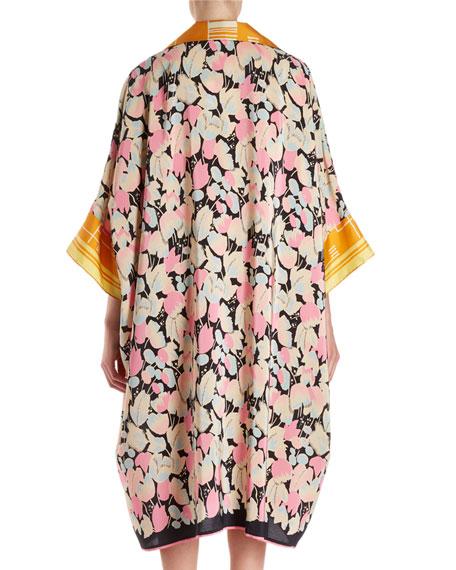 Daze Floral Foulard Cocoon Shirtdress