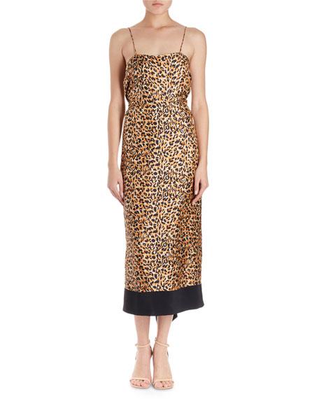 Dica Leopard-Print Midi Cami Dress