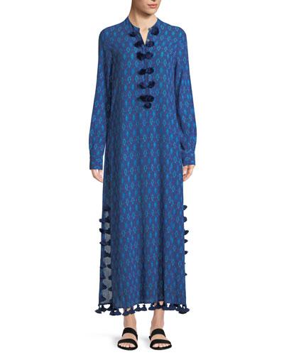 Paolina Mirage Ikat Maxi Dress