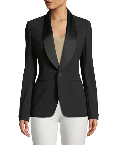 Sawyer One-Button Tuxedo Jacket