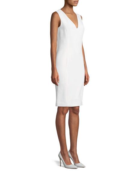 Maury V-Neck Sleeveless Wool Day Dress
