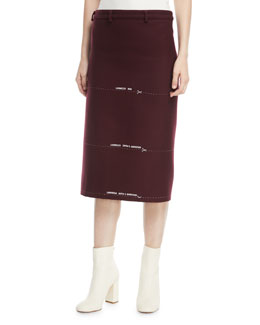 Milanesa Skirt with Embroidered Lengths