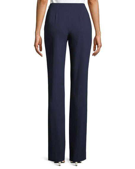 Alandra Straight-Leg Wool Pants