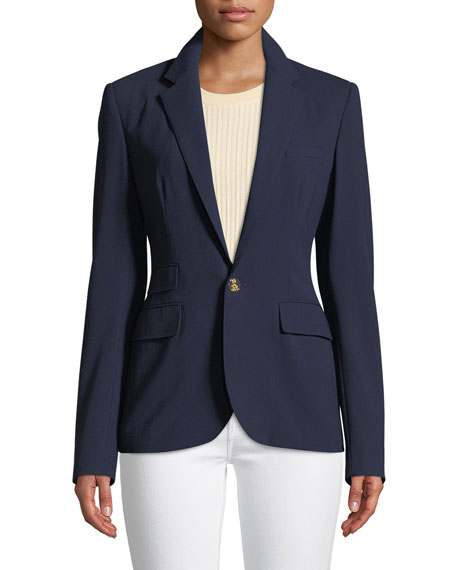 Parker One-Button Wool Jacket