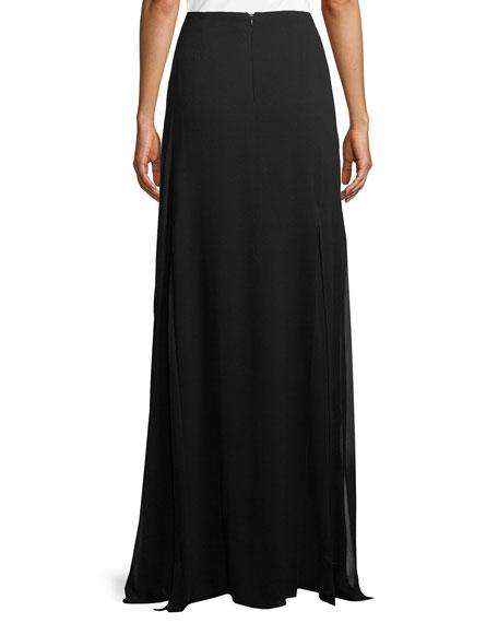 Silk Georgette Maxi Skirt