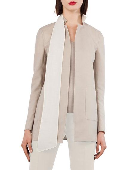 ReverNotch-Collar Wool-Blend Jacket