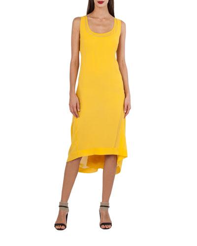 Sleeveless Silk Georgette Dress