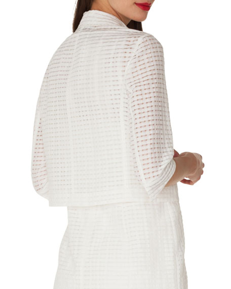 Openwork Grid Lace Jacket