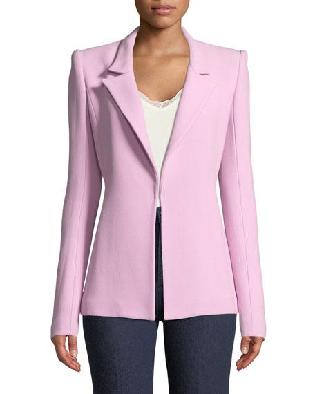 Notch-Collar Single-Hook Jacket